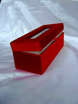 "VALENTINE GIFT 6"" 24K Gold Dipped Rose in a Antique Red Velvet Egyptian Casket"
