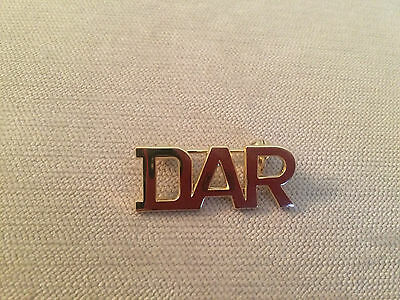 DAR Daughters of the American Revolution Classic Initial Letter Logo Pin