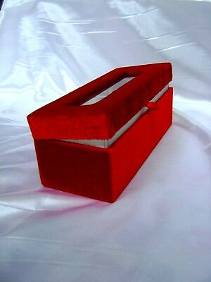 6 Inch 24K Gold Dipped Real Rose in a Red Velvet Egyptian Casket Gold Satin Back