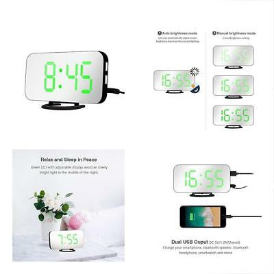 "6.5"" Large Alarm Clocks Display LED Digital With Automatic Brightness Easy Read"