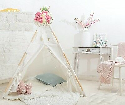 Indoor Teepee Tent for Kids Safe Play Tents for Baby Boys & Girls 100% cotton