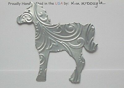 Horse Christmas Tree Ornament Handmade Double Sided Recycled Aluminum Metal Can