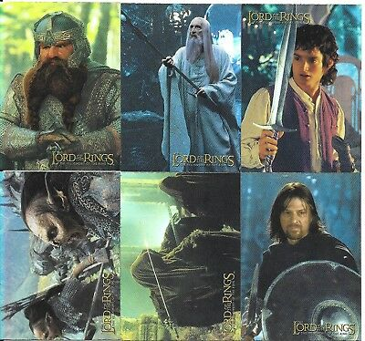 2001 Topps Lord of the Rings Fellowship PRISMATIC Foil Insert Cards Set of 10