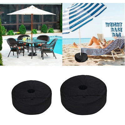 """15"""" / 18"""" Round Umbrella Base Sand Bag for Outdoor Patio Beach Up to 50lbs"""