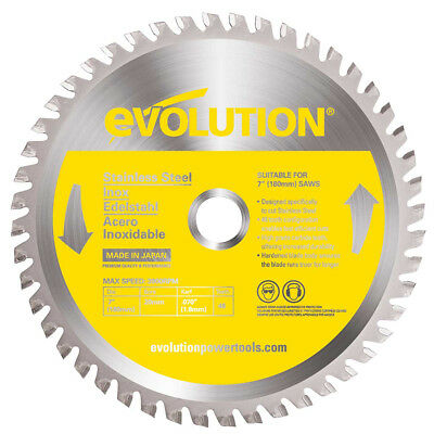 Evolution EVOBLADESS 180mm TCT Stainless Steel Inox Cutting Saw Blade