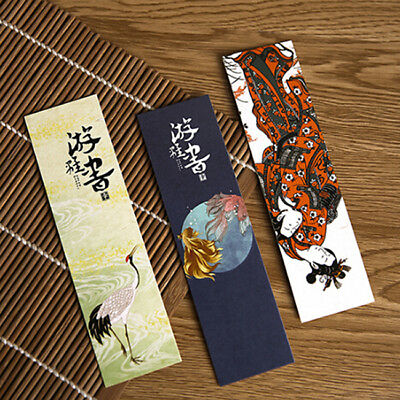 30Pcs Paper Bookmark Vintage Japanese Style Book Marks For Kid Supplies LD