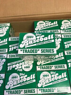 1991 Topps Traded 132 Card Factory Set ......from My Case