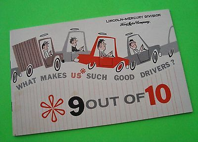ODDBALL 1960 Lincoln Mercury MISS TEENAGE AMERICA Good Drivers Booklet WOW Xlnt+