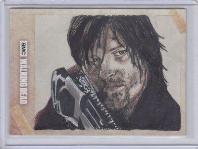 2018 Topps Amc The Walking Dead Hand Drawn Art Autograph One-Of-A-Kind