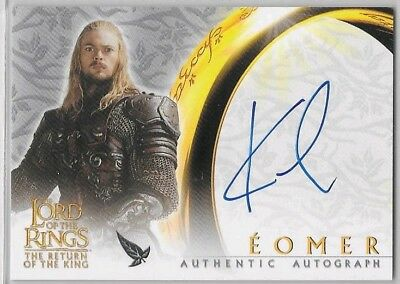 2003 Topps Lord of Rings Return of King KARL URBAN as Éomer Autograph Auto ROTK