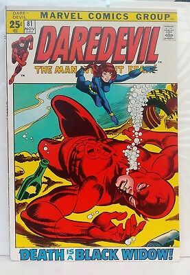 Daredevil #81 1st Black Widow in the Title