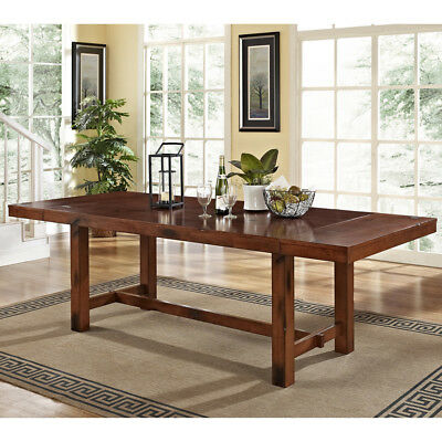 Extra Large Dining Table Rustic Adjustable Wood Expandable Double Trestle Tables