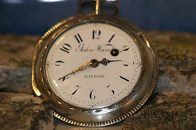 Big J.Ward London verge watch spindeluhr in silver from the late 1700s