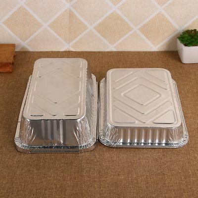 Aluminum Foil Trays BBQ Disposable Food Container Baking Pan With Lids
