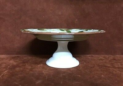 """VTG THE UNITED STATES POTTERS ASSOCIATION 10"""" Floral Daisy Cake Platter Stand"""