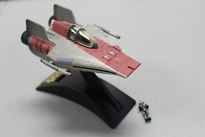 Star Wars Micro Machines Action Fleet A-WING Complete W/ Pilot & Stand