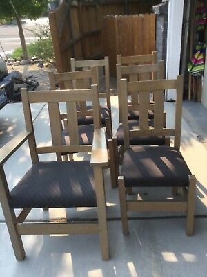 Set Of 6 Stickley Chairs, Midcentury, Arts And Crafts Mission, Model 331 1