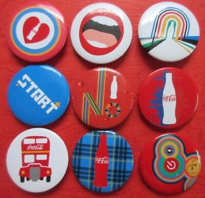 LOT9 Coca Cola CAN BADGE BUTTON PIN PINS JAPAN A