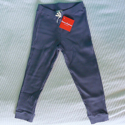 Hanna Andersson 130 NWT Foggy Blue Ribbed Cropped Pant New 8