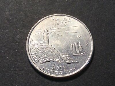 2003 US coin. State Quarter. Maine