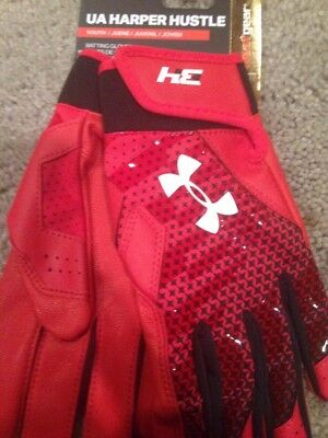 Under Armour Bryce Harper Baseball Batting Gloves. Youth Large. Brand New