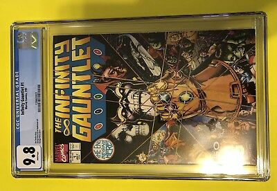 1991 Marvel The Infinity Gauntlet #1 Cgc 9.8 Wp White Jim Starlin Free Shipping