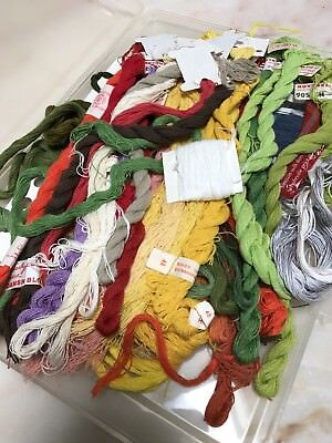 Box Of Nannas Embroidery Threads Danish Flower Threads Haandarbejdets Fremme