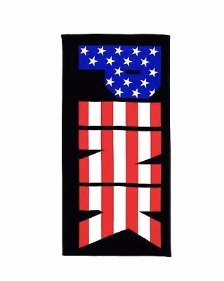 Victoria Secret PINK Black USA Flag Red/White/Blue Stars Stripes Beach Towel