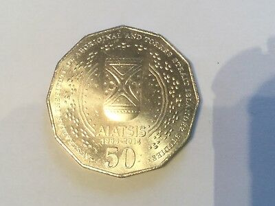 Australian 2014 AIATSIS 50 Cent Coin-UNCIRCULATED From R.A.M. Mint Bag-Scarce