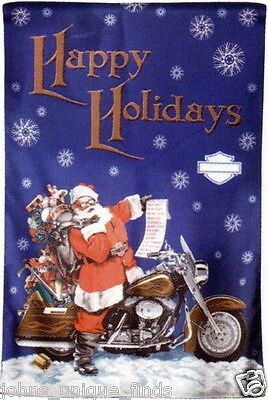 """Harley-Davidson NOS Holiday Double-Sided Banner  24""""W x 36""""H"""