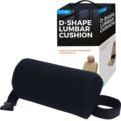 Simply D-shape Lumbar Support Car Cushion For Neck & Back Pain