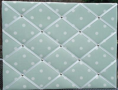 LAURA ASHLEY SAGE Spot Vintage Large Fabric Notice BoardMemo Gorgeous Padded Memo Board