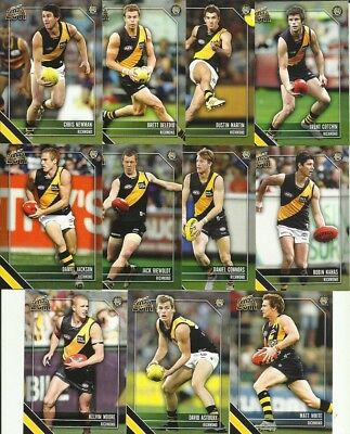 2011 AFL SELECT CHAMPIONS RICHMOND TIGERS COMMON BASE TEAM set 11 cards