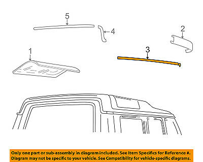 LAND ROVER OEM 99-04 Discovery Roof-Drip Molding Right DBC101620