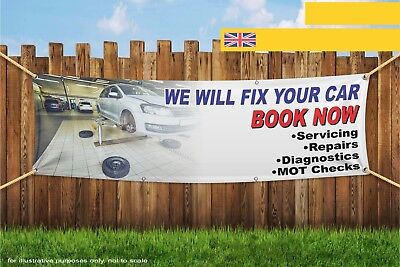 We will Fix Your Car Mechanic Garage Heavy Duty PVC Banner Sign 3571