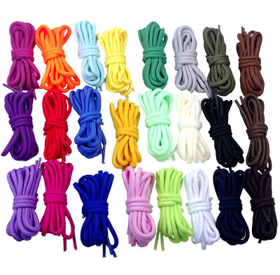 "20""-55"" Round Shoelace Shoe Lace for Athletic Sport Hiking Work Boots Sneaker"