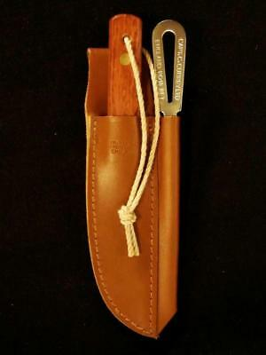 Captain Currey Deluxe 2-Pc Rigging Knife + Marlinspike Kit w/ Leather Sheath