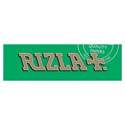 Rizla Green Smoking Cigarette Papers Full Box Of 100 Booklets Only £15.49