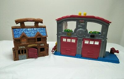 Fisher Price Little People Fire Station And Saloon