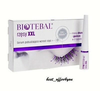 BIOTEBAL EYELASHES XXL  SERUM 4 LONG LASHES 3 ml  - long and beautiful