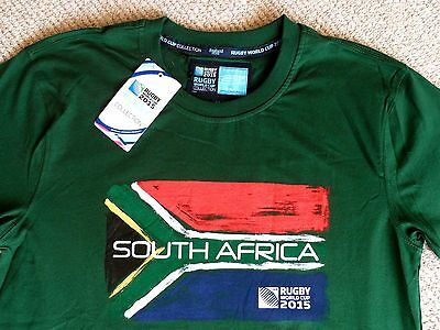 £5.99 !! M or L RUGBY SOUTH AFRICA FLAG T SHIRT TEE World Cup New