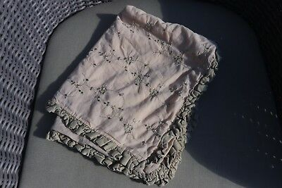 """Bella Notte AMY 321 GREEN/BEIGE EMBROIDERED Pillow Cover 20 X 24"""" 100% COTTON"""
