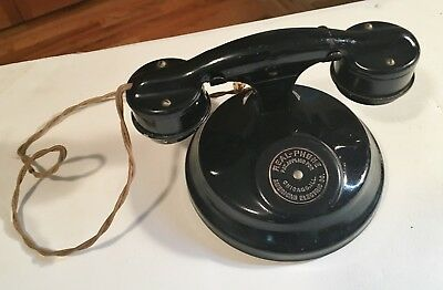 """Antique 1930's """"Real-Phone"""" American Electric Co. Toy Telephone Original+Beauty!"""