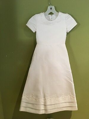 e84cbb6b8c6 Nwt Girls White Dress Size 5 First Communion Flower Girl Special Occasion
