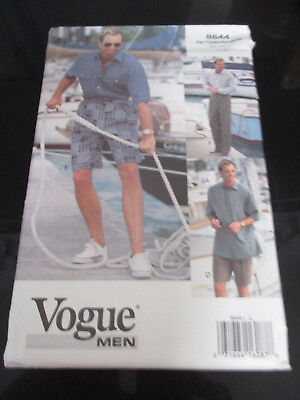 UNCUT VOGUE MEN's SEWING PATTERN~8644~SPORTS CASUAL CLOTHES