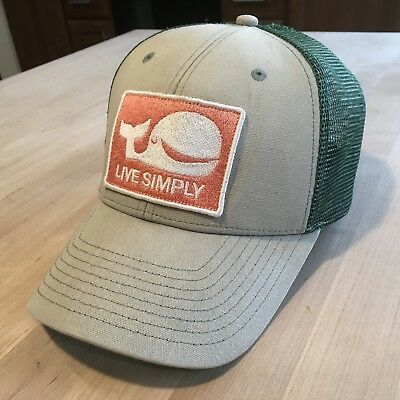 1fe97759b01da Patagonia Live Simply Whale Trucker Hat - Excellent - Tan w  Green - Very  Rare