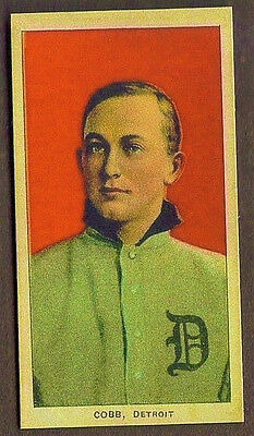 1909 T206 Ty Cobb Red Portrait Cigarette Baseball Card Reprint Birthday Gift