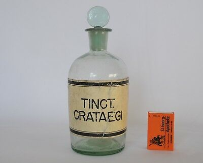"Antike Apothekerflasche ""Tinct. Crataegi"" - antique apothecary bottle"