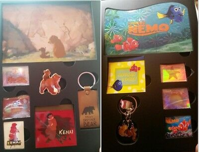 Disney Japan 15 Fabulous Assorted Book Brother Bear & Finding Nemo Pin Set