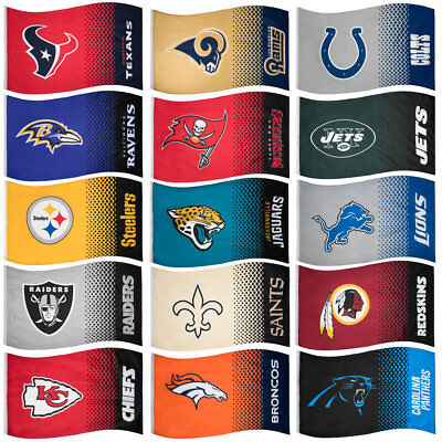 NFL Fahne Fade Fan Flag American Football Flagge Cowboys Cardinals Panthers neu